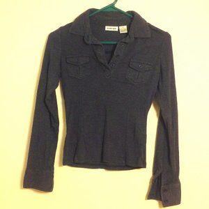 Energie | Dark Gray Long Sleeve Collared Shirt